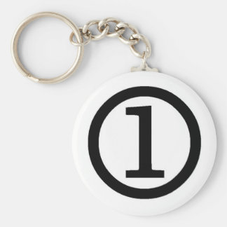 number one key chains