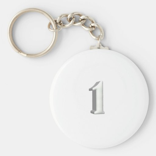 Number One Keychain