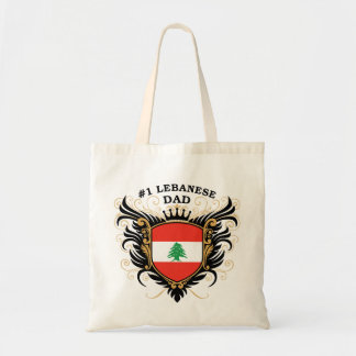Number One Lebanese Dad Canvas Bag