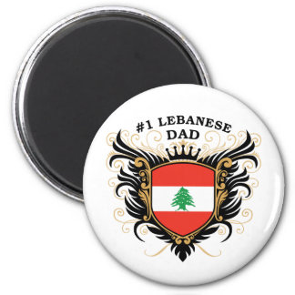 Number One Lebanese Dad Magnet