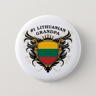 Number One Lithuanian Grandpa 6 Cm Round Badge