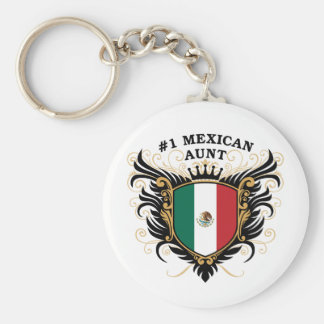 Number One Mexican Aunt Basic Round Button Key Ring