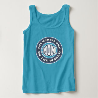 Number One Mom Basic Tank Top