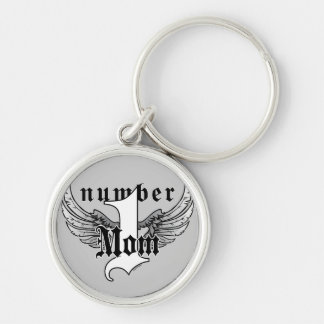 Number One Mom Key Chain