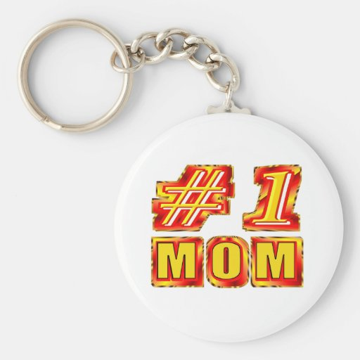 Number One Mom Key Chains