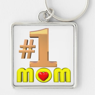 Number One Mom Keychain