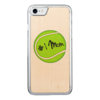 Number One Mom on Tennis Ball Carved iPhone 7 Case