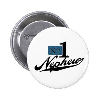 Number One Nephew 6 Cm Round Badge