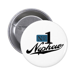 Number One Nephew Pinback Button