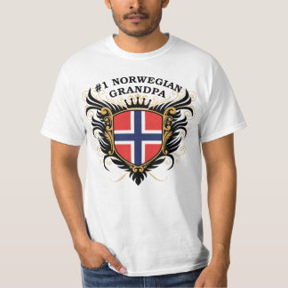 Number One Norwegian Grandpa T-Shirt