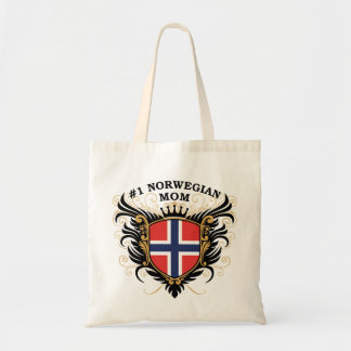 Number One Norwegian Mom Tote Bag