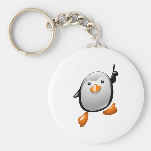 Number One Penguin Key Chain