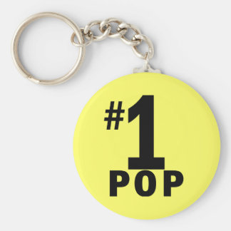 Number One Pop Products Basic Round Button Key Ring