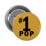 Number One Pop Products Pinback Buttons