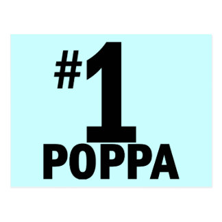 Number One Poppa Products Postcard