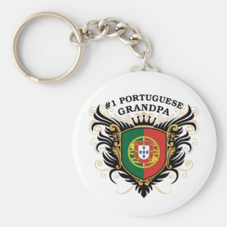 Number One Portuguese Grandpa Basic Round Button Key Ring