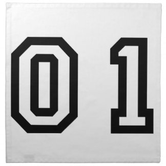 Number One Printed Napkin