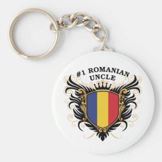 Number One Romanian Uncle Keychain