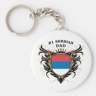 Number One Serbian Dad Key Ring