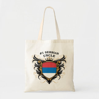 Number One Serbian Uncle Canvas Bags