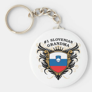Number One Slovenian Grandma Basic Round Button Key Ring
