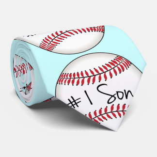 Number One Son on Baseball Tie