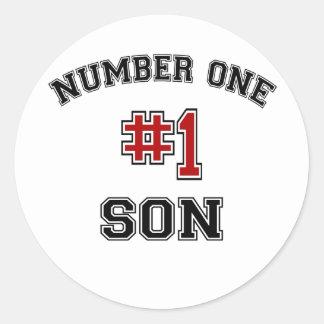 Number One Son Round Sticker