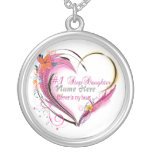Number One Step Daughter Heart  Necklace