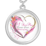 Number One Step Mum Heart  Necklace