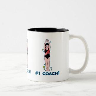Number One Swimming Coach Two-Tone Mug