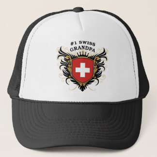 Number One Swiss Grandpa Trucker Hat