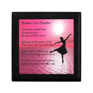 Number One Teacher -  Ballerina Design Gift Box