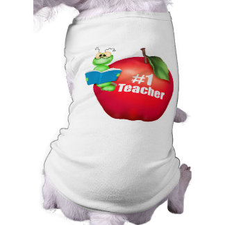 Number One Teacher Sleeveless Dog Shirt