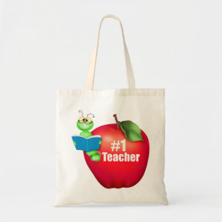 Number One Teacher Canvas Bag