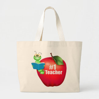 Number One Teacher Tote Bag
