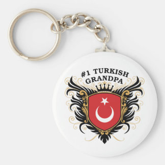 Number One Turkish Grandpa Basic Round Button Key Ring