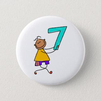 Number Seven Kid 6 Cm Round Badge
