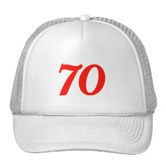 Number Seventy 70th Birthday Gifts Cap
