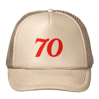 Number Seventy 70th Birthday Gifts Trucker Hat