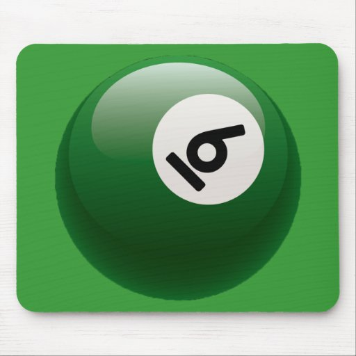 NUMBER SIX BILLIARDS BALL MOUSE PAD