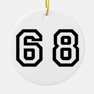 Number Sixty Eight Christmas Ornament