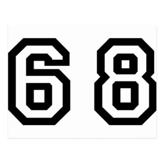 Number Sixty Eight Postcard