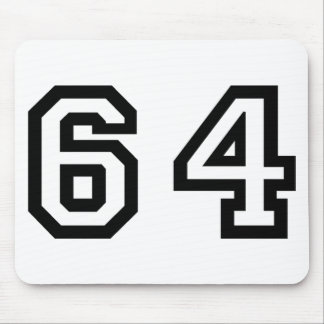 Number Sixty Four Mouse Pad