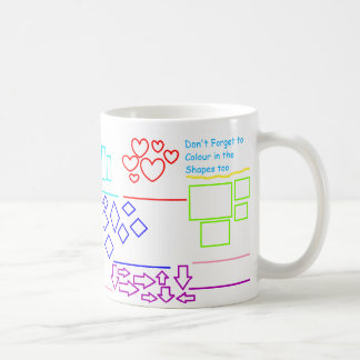 'Number the Shapes then Colour' Activity Mug