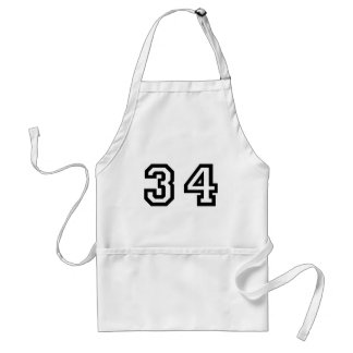 Number Thirty Four Standard Apron