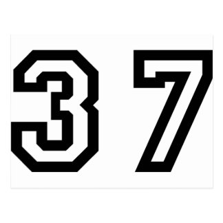 Number Thirty Seven Postcard