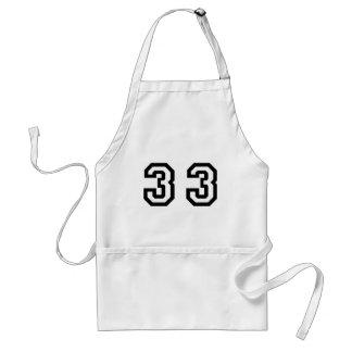 Number Thirty Three Standard Apron