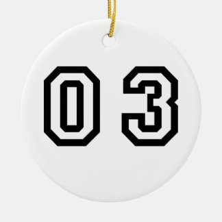 Number Three Christmas Ornament