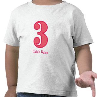number three girl, Child's Name T-shirt
