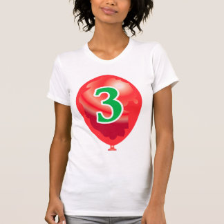 Number three globe shirt